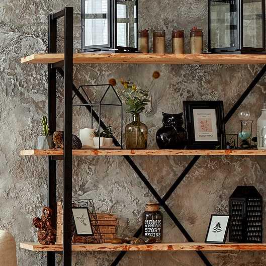 bibliothèque bois et métal